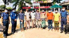 সুনামগঞ্জে ৭ ডাকাত গ্রেপ্তার: গাড়িজব্দ, মালামাল উদ্ধার